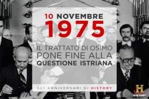 10 novembre 1975 - Trattato di Osimo