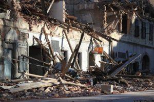 29.12.2020., Petrinja - Posljedice jakog potresa jacine 6.3 po Richteru pogodio je Petrinju, Sisak i okolicu te nanio veliku stetu. Photo. Slavko Midzor/PIXSELL